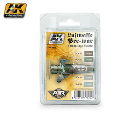 AK Interactive AK 2320 LUFTWAFFE PRE-WAR CAMOUFLAGE COLORS Acrylic Paint Set