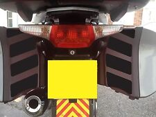BLACK REFLECTIVE PANNIER SAFETY CHEVRONS BMW R1200RT K1200GT K1300GT