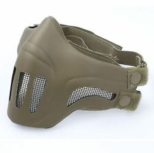 AIRSOFT TAN BROW MASK Neoprene Hard Foam GHOST RECON HALF FACE AEG UK  DELIVERY