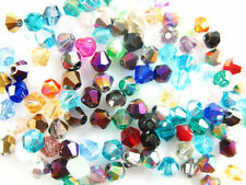 100pcs Pearls Crystal Faceted Bicone Beads 6mm Spacer Makings Random Mixed Color