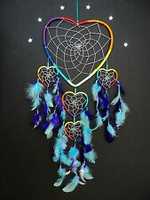 Dream Catcher Rainbow Heart Large STUNNING ITEM