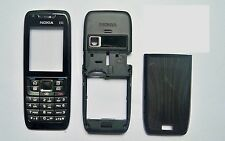 Full Black Housing cover fascia facia faceplate case for Nokia E51