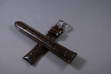 16mm 18mm 20mm Genuine Leather Aligator Emboss Watch Band Strap interchangeable