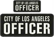 city of los angeles officer embroidery patches 4x10 and 2x5  hook on back