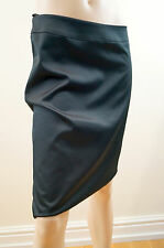 KYRI LONDON Black 100% Cotton Satin Pencil Evening Skirt UK12