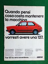 PV138 Pubblicità Advertising Clipping (1980) 31x23 cm - FIAT 127 AUTO CAR