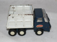 TONKA MOUND MINN BLUE AND WHITE SMALL DUMP TRUCK PRESSED STEEL TOY