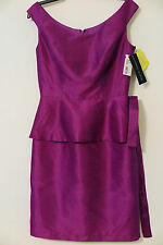 NWT Alfred Sung Dahlia Purple Sleeveless Cocktail Formal Dress Size 8 MSRP $192