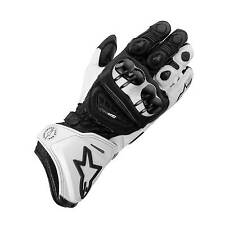 Alpinestars GP Pro Leather Motorcycle / Bike Gloves Black / White - Small (S)