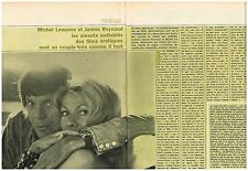 Coupure de presse Clipping 1973 (2 pages) Michel Lemoine et Janine Raynaud
