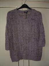 *PAPAYA* @ MATALAN- ELBOW LENGTH SLEEVE LOOSE KNIT JUMPER-HEATHER-16-NEW