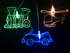 Transport - Helicopter, Train & Car Mobile Night Light for Baby or Child Room