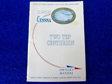 CESSNA Factory OEM - 210 Two Ten Centurion - Owners Guide Manual 1965 #D-287-13