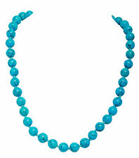 Turquoise Howlite Stone Necklace Length-45cm 925 Sterling Silver Hook & Extender