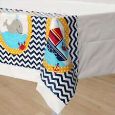 Ahoy Matey Baby Shower Birthday Party Supplies Table Cover