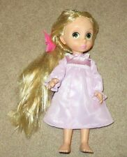 Disney Tangled Rapunzel Doll Tinsel Hair Animators 1st Edition Purple Nightgown