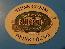 Beer Bar Coaster ~ BLUE POINT Brewing Co ~ Long Island, NEW YORK * Drink Locally