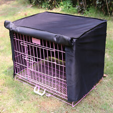 "Small 18""x12""x14"" Pet Dog House Crate Cage Kennel Cover Fence Windproof Blk"
