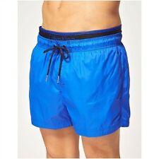 Nuevo Azul Cobalto Calvin Klein doubleband Beach Pool Swim Pantalones Cortos Cintura pequeño de 28/32