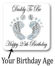 New Personalised Daddy To Be Birthday Age Coaster Gift Best Dad Father Birthday