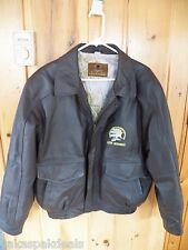 New! North American Hunting Club LIFE MEMBER Mens Leather Jacket Sz L Large BRN