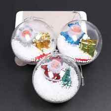 5pcs 8cm Plastic Hanging Ball Baubles Xmas Party Home Christmas Decor Gift