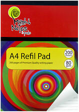 A4 Refill Pad 200 Sheet of Premium Quality Writing Paper, In Vibrant Color-1015A
