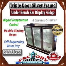320L Commercial Triple Door Under Bench Bar Cooler Beer Display Fridge!