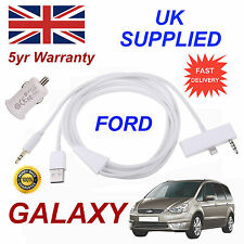 FORD GALAXY iPhone 6 Plus USB & Aux Cable with USB Power Adapter