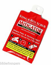 24 Mitigator Packets Bee Wasp Sting Insect Spider Bite Skin Treatment Relief