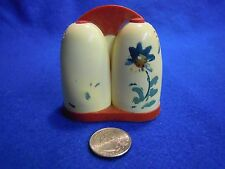 Vintage White Retro Celluloid All in One Salt and Pepper Shaker Flower Ward   55