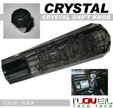 VIP CRYSTAL STYLE TRANSPARENT BLACK BUBBLE SHIFT KNOB GEAR 150MM MITSUBISHI BMW