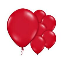 "10 PARTY RED BALLOONS birthday helium quality 30cm 12"" kids adult Anniversary"