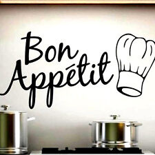 Quality Chef Hat Bon Appetit English letters Dining Kitchen Decor Wall Stickers