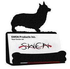 Welsh Pembroke Corgi Dog Black Metal Business Card Holder
