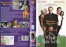 THE WHOLE NINE YARDS VHS PAL BRUCE WILLIS,MATTHEW PERRY,AMANDA PEET RARE