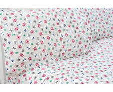 NEW SNOWFLAKES ULTRA SOFT FLANNEL QUEEN BED SHEETS 4 PC SET 100% COTTON