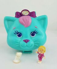 Vintage  Polly Pocket Cuddly Kitty 100%Complete PINK Variation Excellent conditi