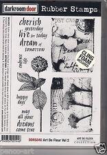 Darkroom Door opaque rubber stamp ART DE FLEUR Vol 2 18x12cm +foam back DDRS040