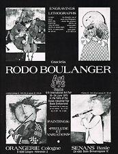 1975 Vintage Graciela Rodo Boulanger Basle Art 6 '75 Fair Switzerland Print AD