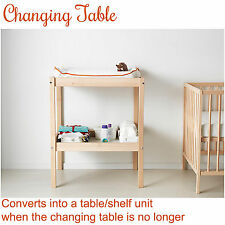NEW IKEA Baby Newborn Change Table Changing Wooden Shelf Nursery
