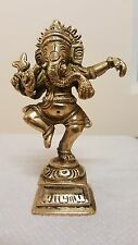 Ganesha Statue Dancing Nataraja Ganesh God Hindu Om Elephant Brass Antique