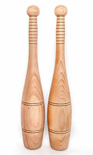 Indian Wooden Clubs(Medium/Pair) - Military size, Training/Swinging, Clubbells,