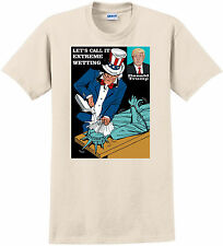 T-shirt political, trump waterboarding vetting size XL natural cotton President