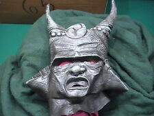 Scary Black Orc Org Horn Horned Soldier Halloween Adult Costume Mask used