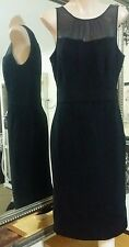 Nougat of London Dress.Sz1/S .Wool/Angora blend, silk trim. Winter weight.VGC
