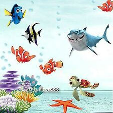 FINDING NEMO Wall Stickers Kids Girl Boy Nursery Childrens Room Decor SEA Fishes