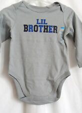 BOYS 6-9 MONTH GRAY LIL BROTHER L/S CREEPER SHIRT NWT ~ THE CHILDREN'S PLACE