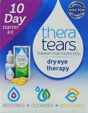 2x Thera Tears 10 day Starter Kit Dry Eye Therapy Restores Cleanses Nourishes