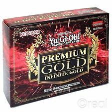 New 1 Yu-Gi-Oh! Premium Infinite Gold 3 Pack Sealed Booster Box Cards Official